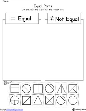 First Grade Math Unit 18 Fractions Activities Worksheets Games First Grade Math Fractions First Grade Worksheets