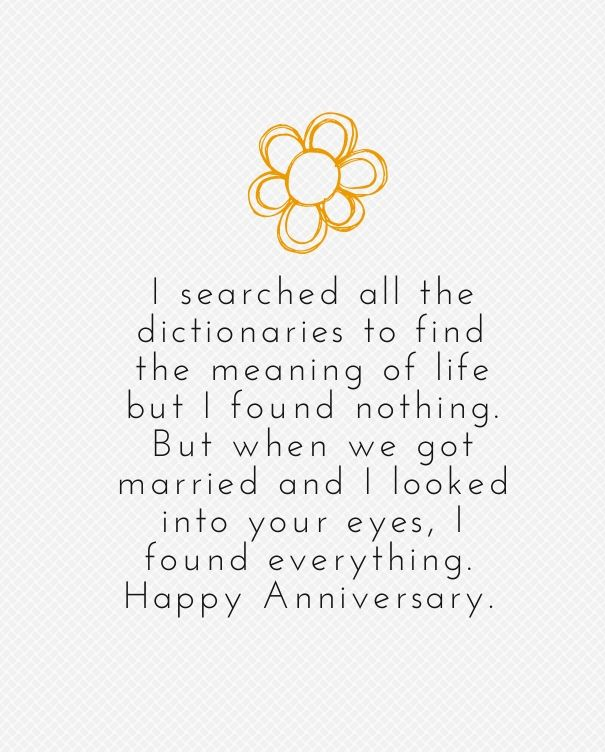 Husband To Wife Anniversary Quotes To Wish Her