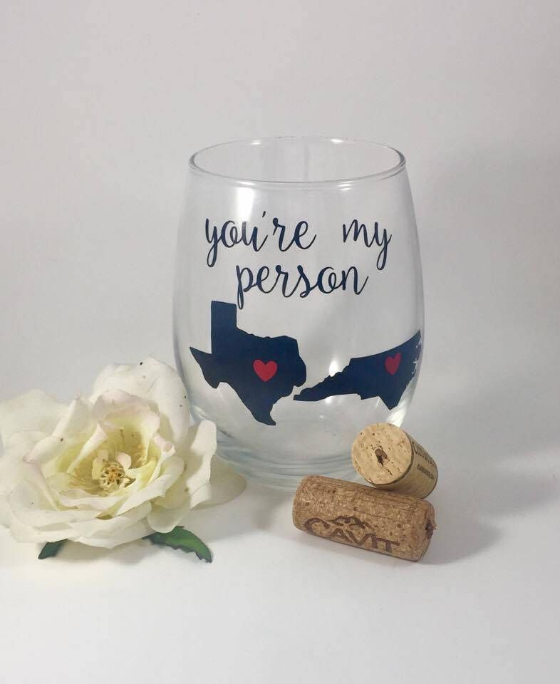 best friend wine glass youre my person stemless wine glass best friend gift bff christmas gift birthday gift mothers day
