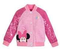 Disney Minnie Mouse Pink Sequin Varsity Jacket - Personalized #Sponsored , #Affiliate, #Mouse#Pink#Disney #varsityjacketoutfit