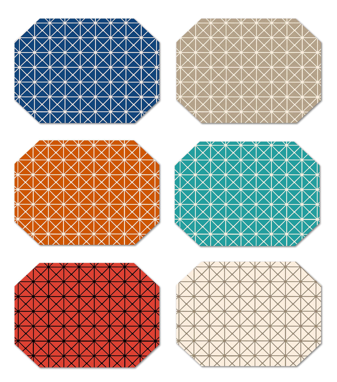 Placemat Maly-Textile 6er Set 30x43cm Orange