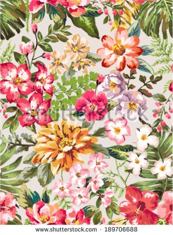 flower pattern tropical - Pesquisa Google