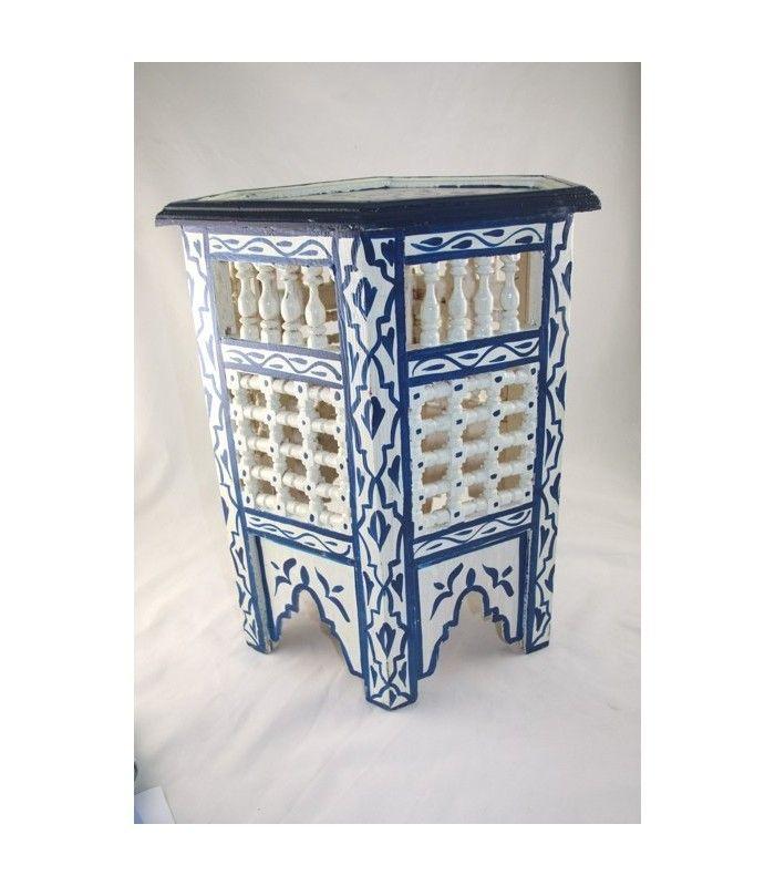 Moroccan Painted Table Hp304 S 50743 1344895279 1280 1280 Jpg 801 1000 Deco Salon Marocain Meuble Deco Salon