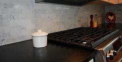 Calacutta Carrera Backsplash / Smoke Countertop European Stone & Tile Design, Kirkland, WA