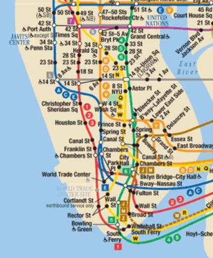 Subway Map From 14th To Chambers.Image Result For Nyc Subway Map Nyc Subway Nyc Subway Map Nyc
