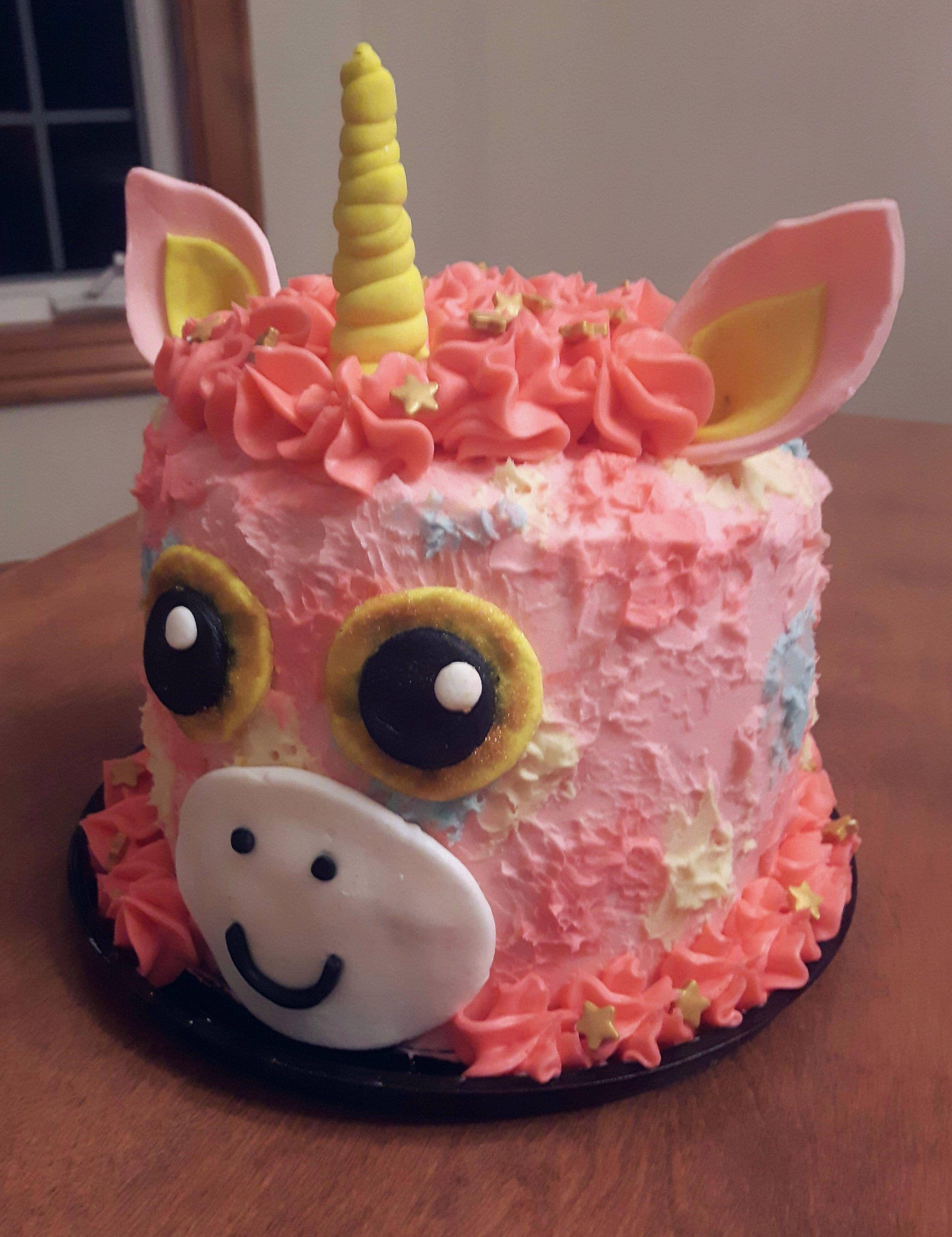 e592b68e24a DIY Beanie Boo Unicorn Cake