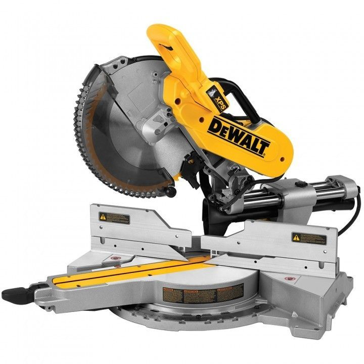 Use Your New Miter Saw To Build Cabinets Furniture Or Wall Frames This Dewalt Dws780 12 Sliding Com Sliding Compound Miter Saw Miter Saw Compound Mitre Saw