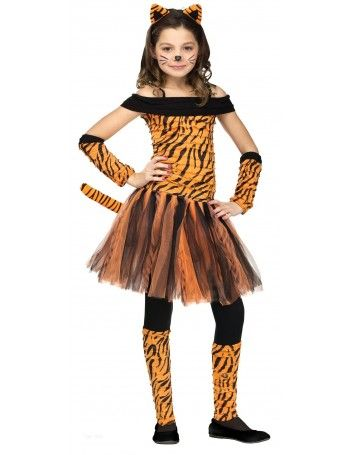 Girls Tigress Costume - L Size Large Orange  sc 1 st  Pinterest & Pin by CostumesRock on Cute Costumes | Pinterest | Halloween ...