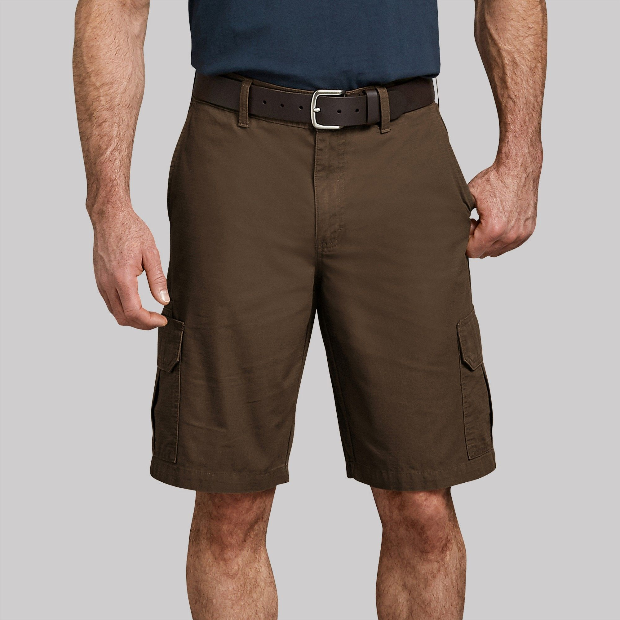 721ac9158b Dickies Men's Big & Tall 11 Relaxed Fit Lightweight Ripstop Cargo Shorts -  Brown 44