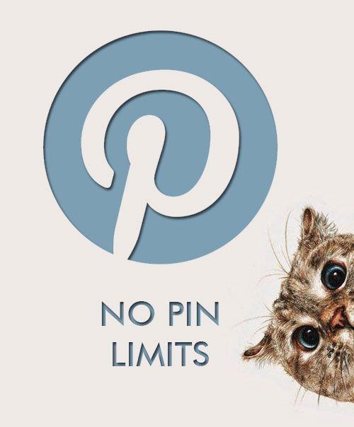 No pin limits. Happy pinning! :-)