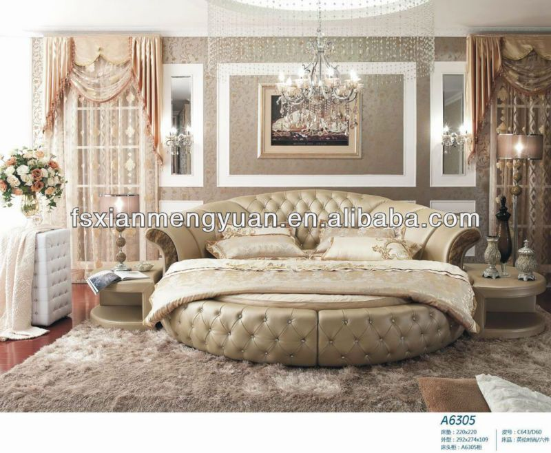 High Quality Latest Round Bed Designs A6305 On Sale
