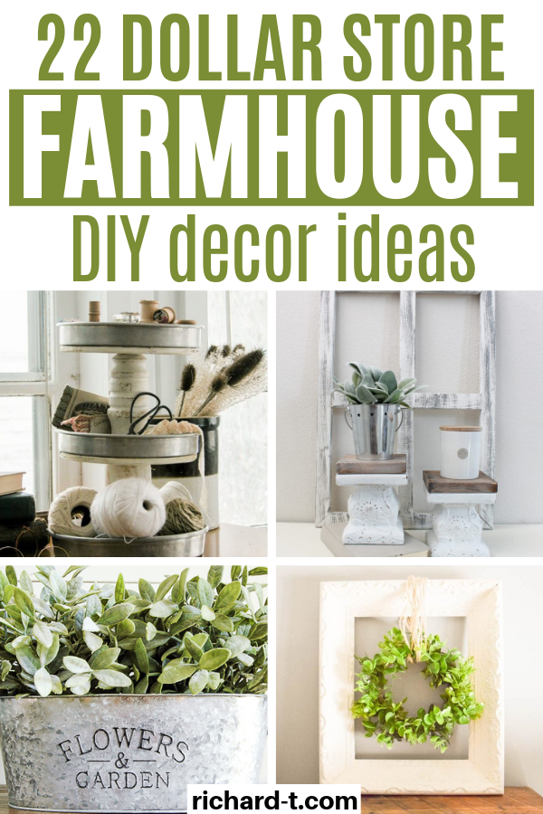 22 Amazing Dollar Store DIY Farmhouse Decor Ideas - 22 DIY Dollar store farmhouse decor ideas to transform your home today!! These farmhouse decor ideas - #Amazing #decor #Diy #Dollar #Farmhouse #farmhousedecor #Ideas #moderndecor #Store
