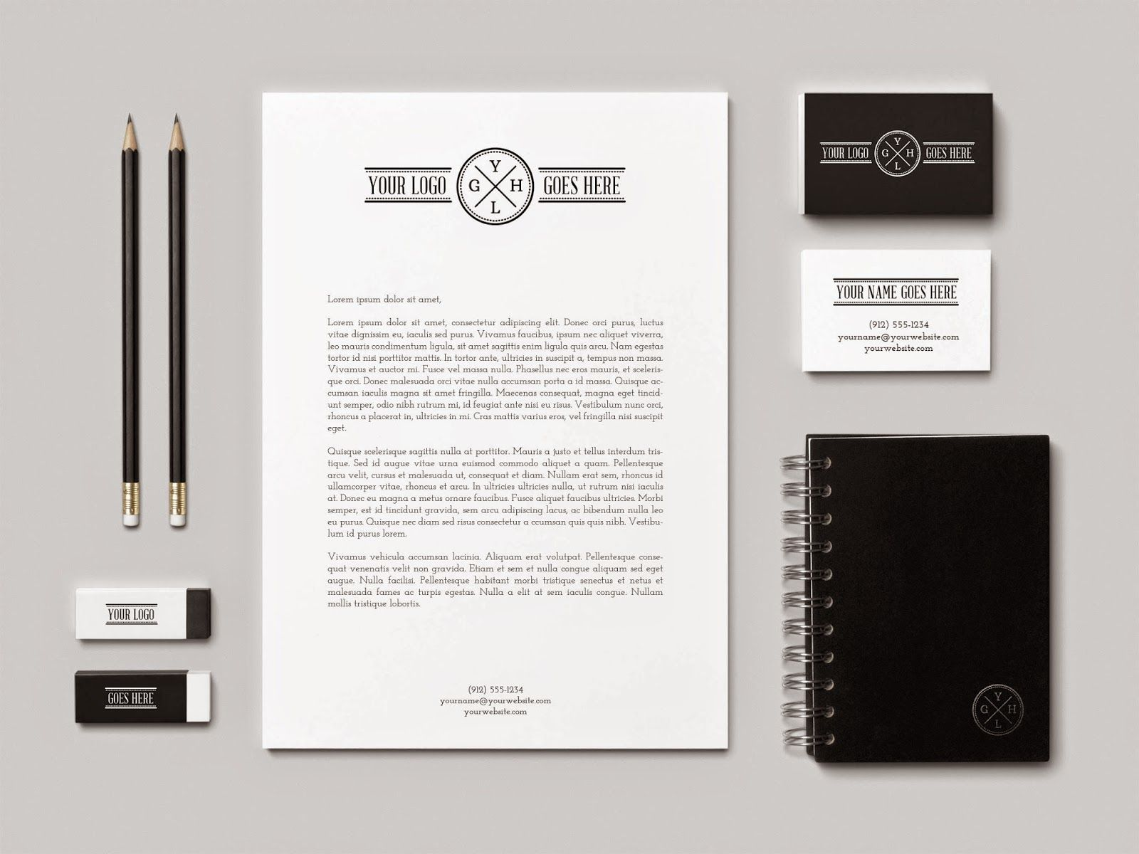 Realistic Branding Identity MockUp – Stationery Templates for Designers
