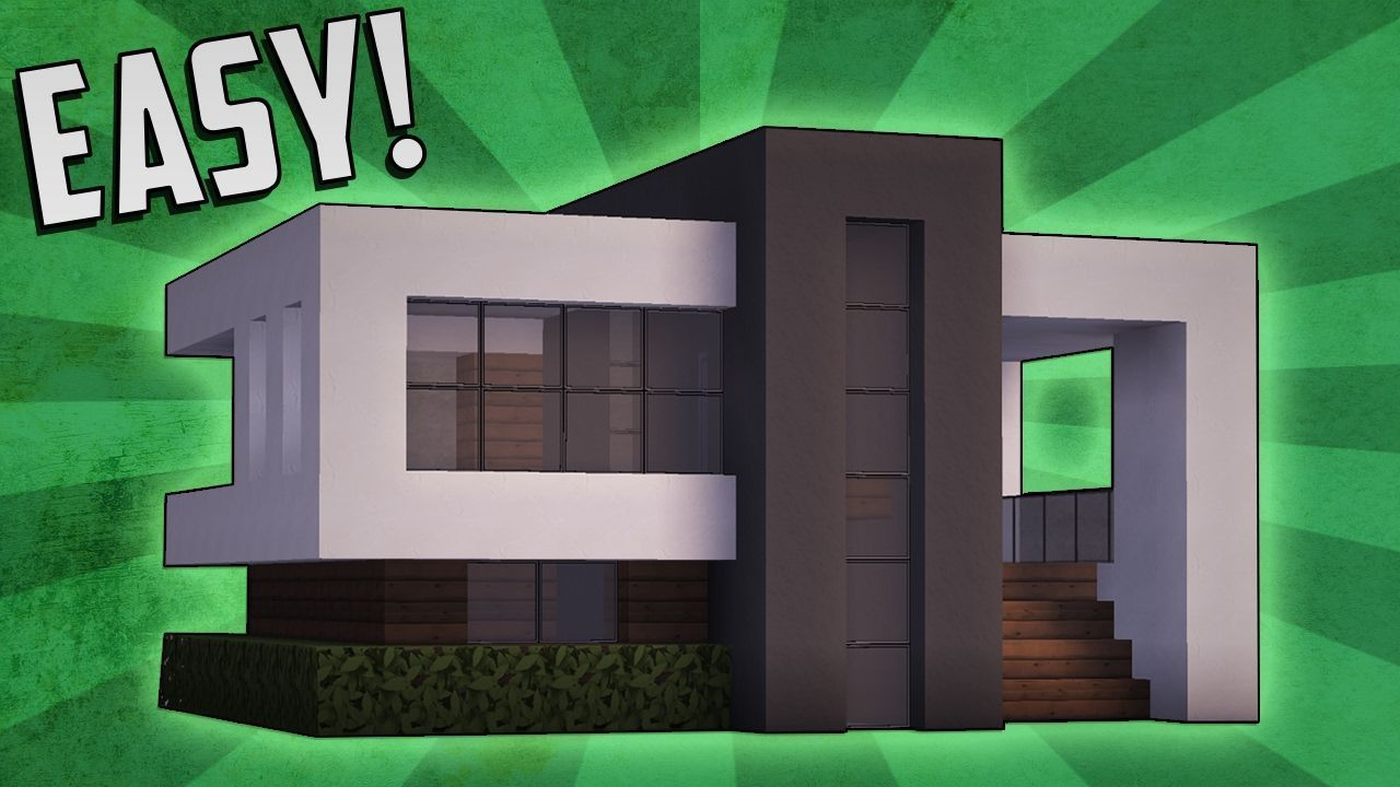 Minecraft: How To Build A Small Modern House Tutorial (#11