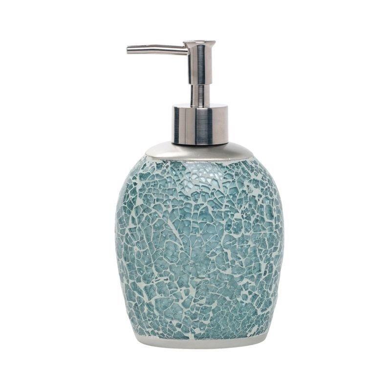 Hand Soap Dispenser Bathroom Countertop Decor Lotion Pump Aqua