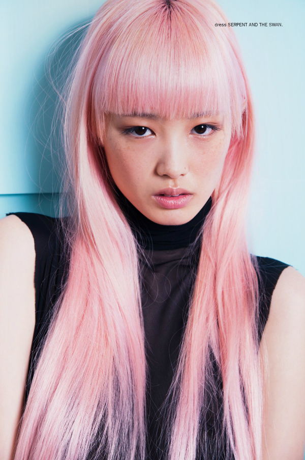 "Fernanda photographed by Bonnie Hansen for 1 AM Magazine. The cool editorial ""1 AM – Fernanda"" highlights Fernanda's memorable pink hair combining subtle pastel colours styled by Nicole Adler. Photographer: Bonnie Hansen Model: Fernanda Hin Lin Ly Stylist: Nicole Adler Hair & Make-up: Samantha Patrikopoulos"
