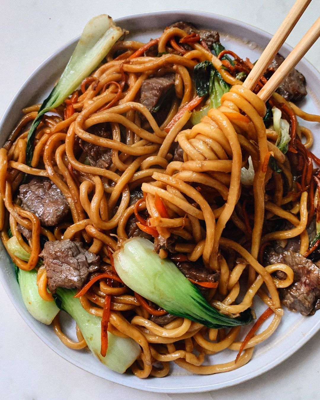 P E A C H O N O M I C S On Instagram Weekend Plans Chinese Beef Lo Mein Except These Are Homemade And Taste So Beef Lo Mein Recipe Food Lo Mein Recipes