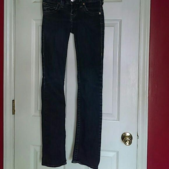TRUE RELIGION skinny jeans Regular color denim... Skinny leg style 98% cotton and 2% spandex True Religion Jeans Skinny