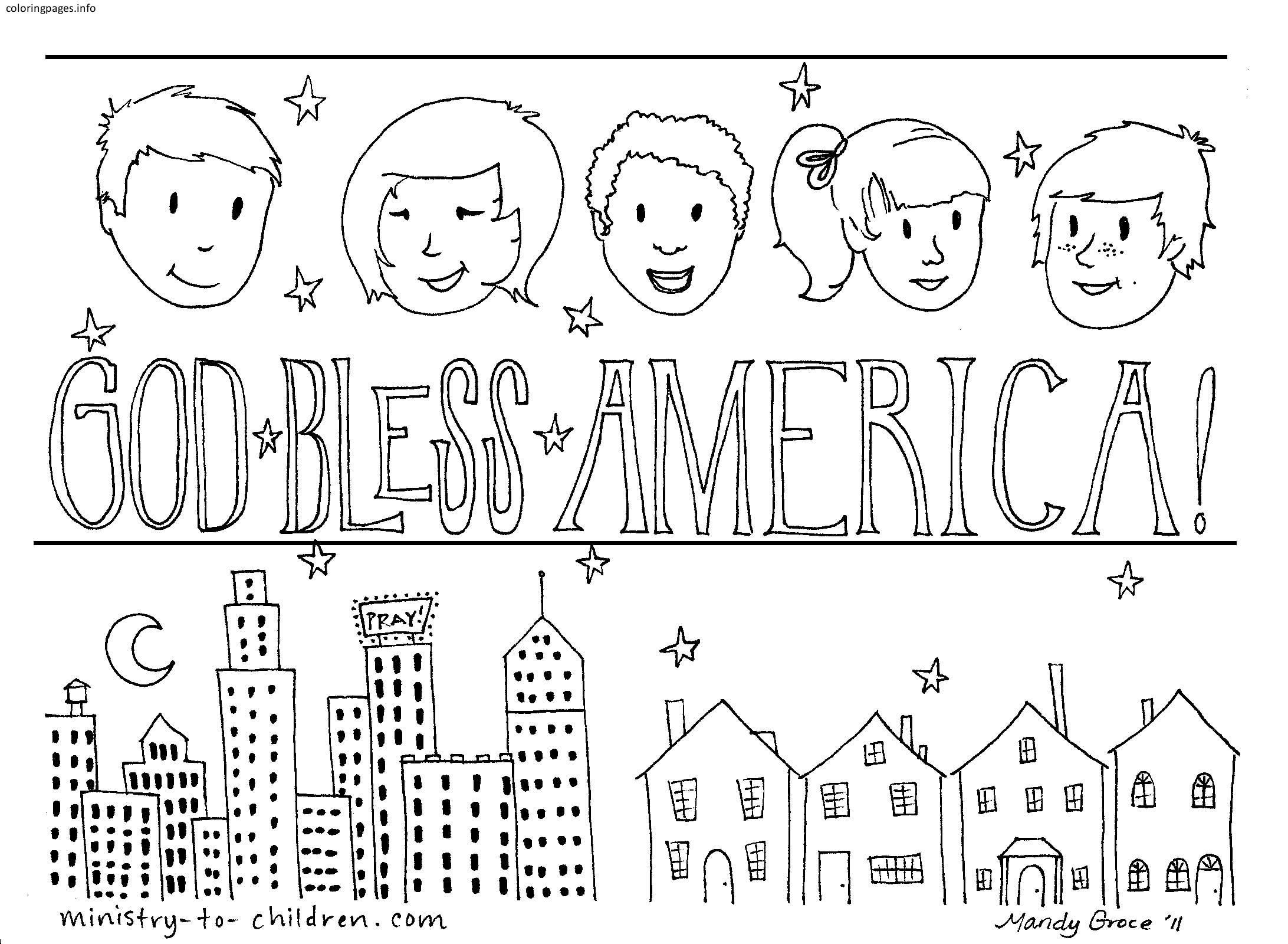 God Bless The Usa Coloring Pages God Bless The Usa Coloring Pages Coloringpages Coloring