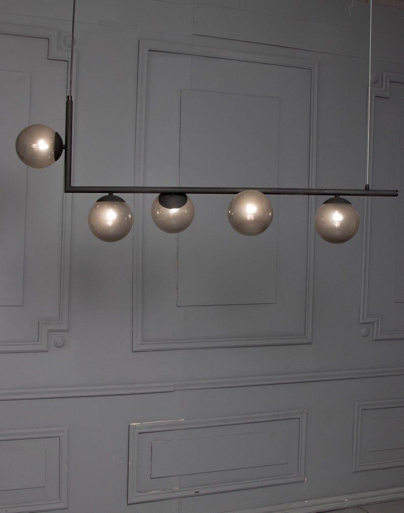 Maira Dark Corner Fumed Grey Globes Pendant Light Geometric Etsy In 2020 Globe Pendant Light Linear Pendant Lighting Pendant Light