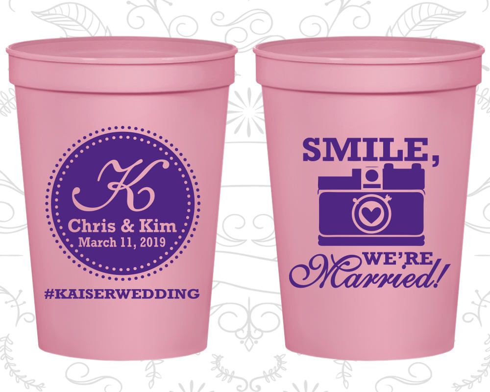 Wedding Cups, Plastic Cups, Stadium Cups, Personalized Cups, Plastic ...