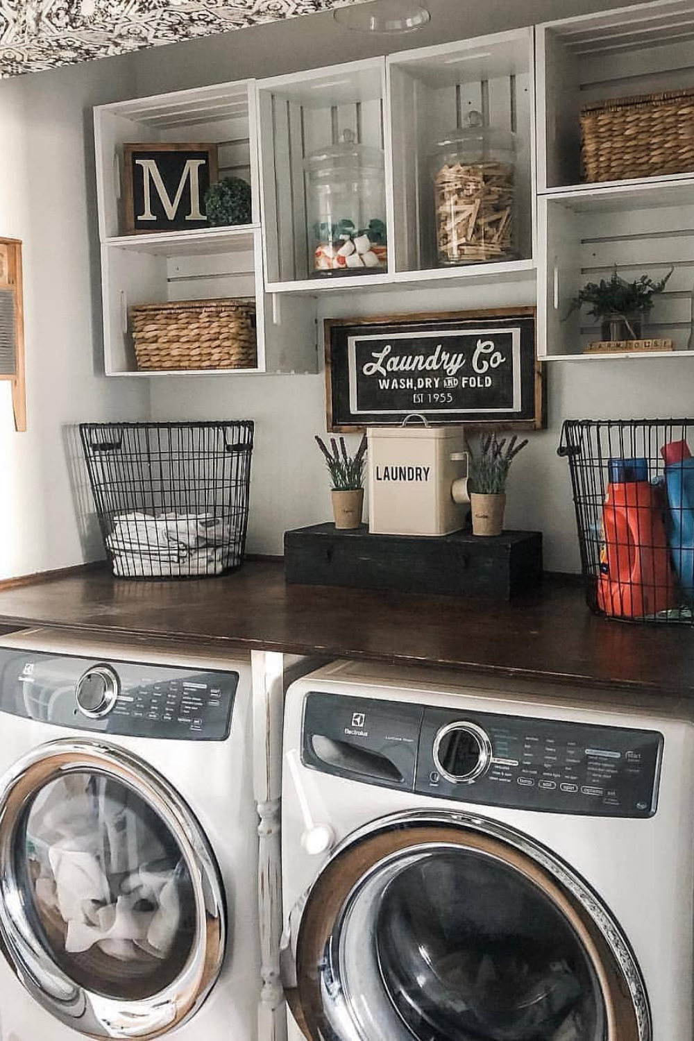 Smart Farmhouse Laundry Room Storage Organization Ideas - WEBVISIT 6