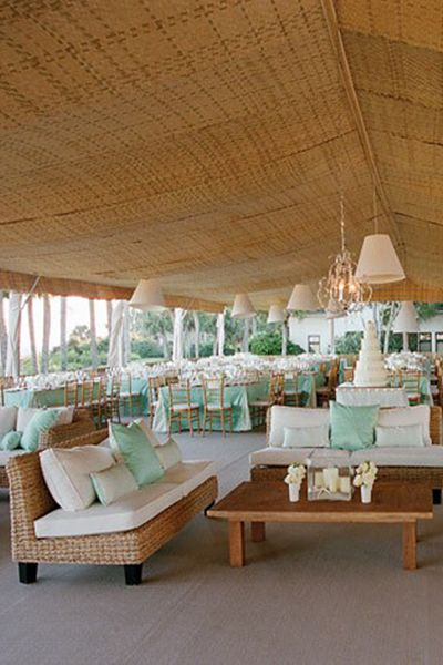 tent decor - perfect for a seaside wedding  photo by Liz Banfield