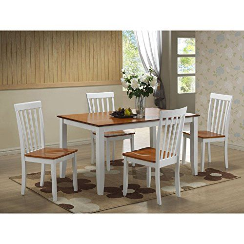 Boraam Bloomington 5 Piece Dining Set White Honey Oak   Be sure to     Boraam Bloomington 5 Piece Dining Set White Honey Oak   Be sure to check  out this