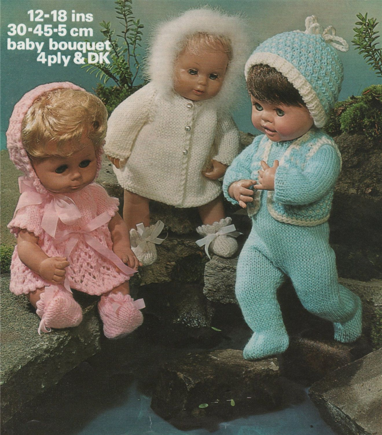 Dolls Clothes Knitting Pattern PDF for 12, 14, 16 and 18 inch Baby ...