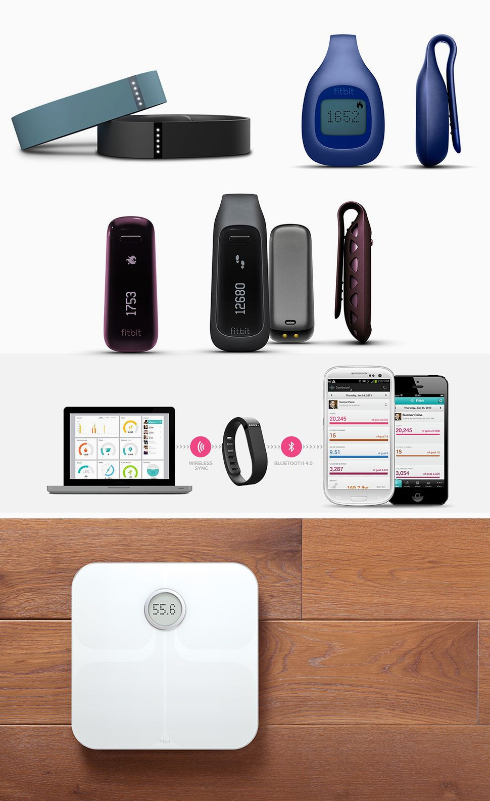 Fitbit creates a set of devices that help track activities
