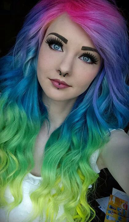 Hair Color Emerald Green Splat On People Google Search