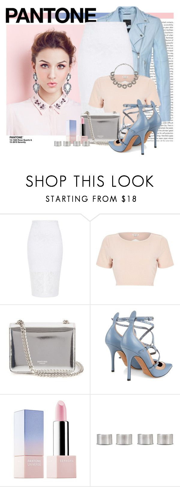 """""""//SERENITY/ ROSE QUARTZ//"""" by rominaqu1d ❤ liked on Polyvore featuring beauty, Oris, Gestuz, River Island, Rochas, Valentino, Gucci, Sephora Collection and Maison Margiela"""