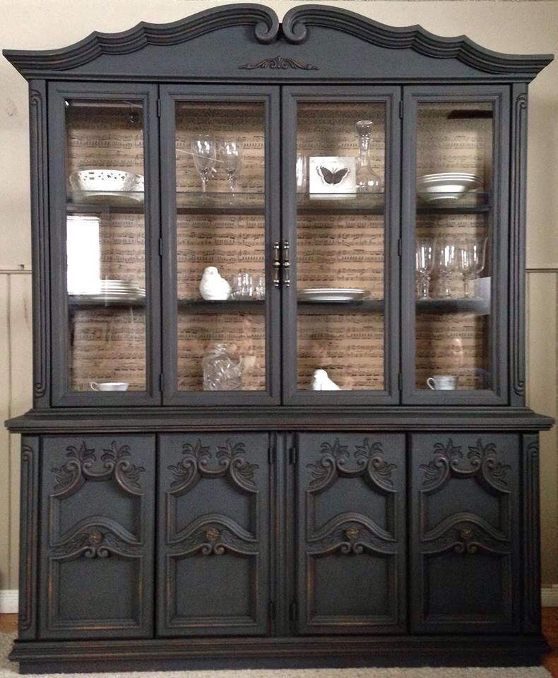 I Love How This Was Redone Painted China Cabinets
