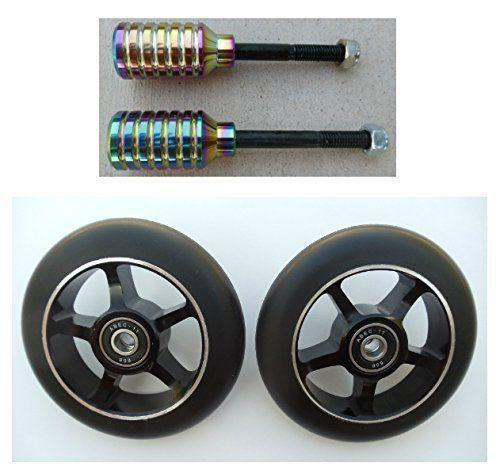 DIS 120mm Hollow Slicks and Pegs Package Black Rainbow Metallic
