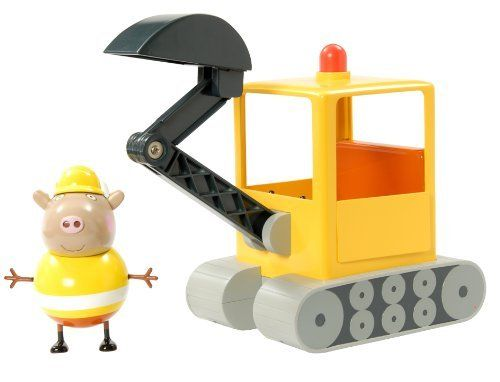 Peppa Pig Mr Bull S Road Digger Vehicle Includes Mr Bull Figure By Character Options 49 99 Suitable For The A Peppa Pig Toys Little Girl Toys Toys For Girls