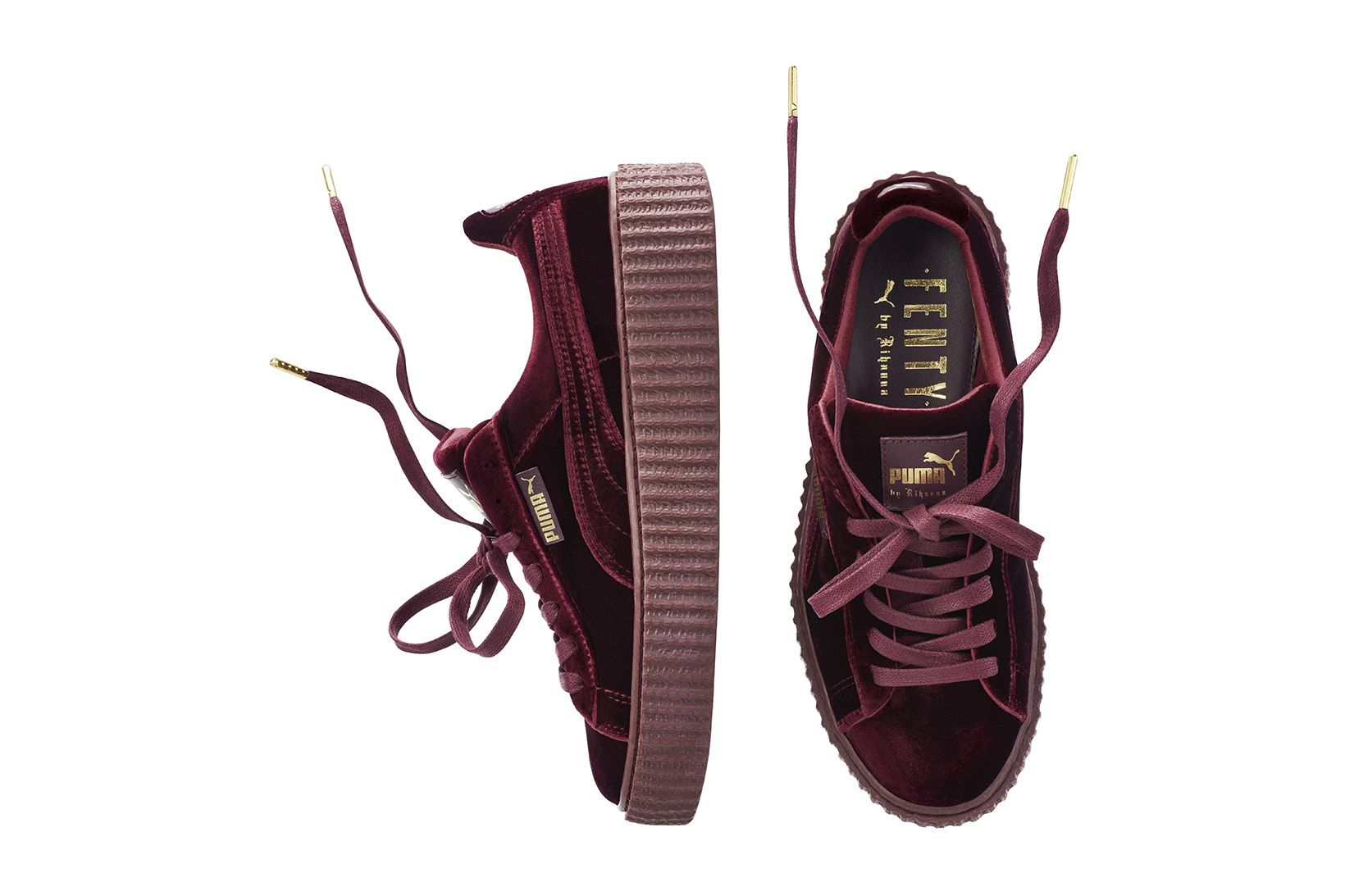 100% authentic 561a0 b060d Every Bad Gal Needs Rihanna's New Velvet PUMA Creepers ...