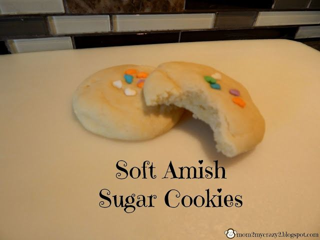 Running away? I'll help you pack.: Soft Amish Sugar Cookies