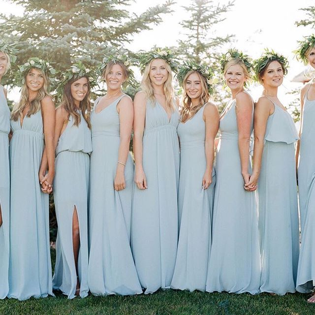 dc1fd872cb8 Steel blue beauties in various  mumuweddings dresses