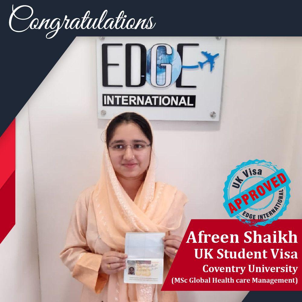 Congratulations afreen shaikh for getting 17 months