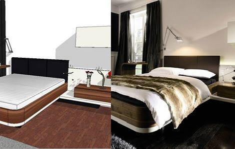 hulsta furnplan mioletto ii indeling slaapkamer 3d tekening noten wit laque inrichting slaapkenner theo bot
