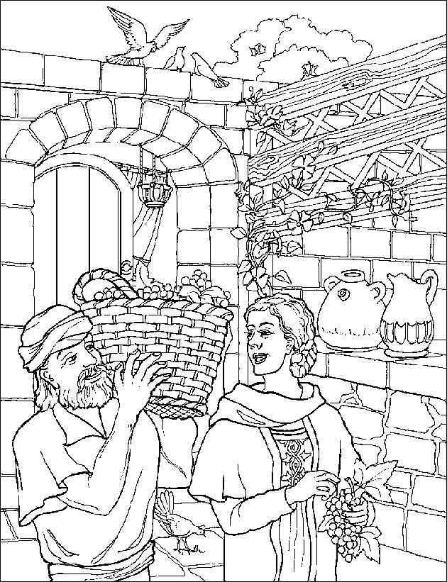 Zacharias En Elizabeth Bible Coloring Pages Coloring Pages