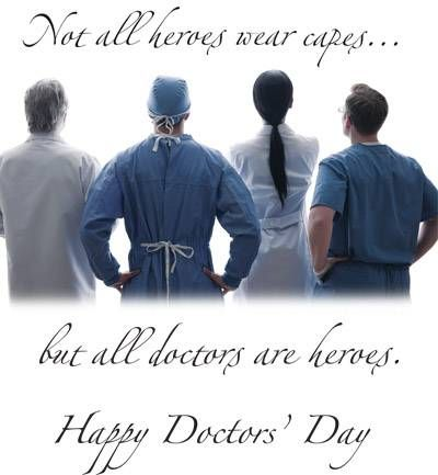 Happy Doctor's Day!! Each one of us, either by choice or ...