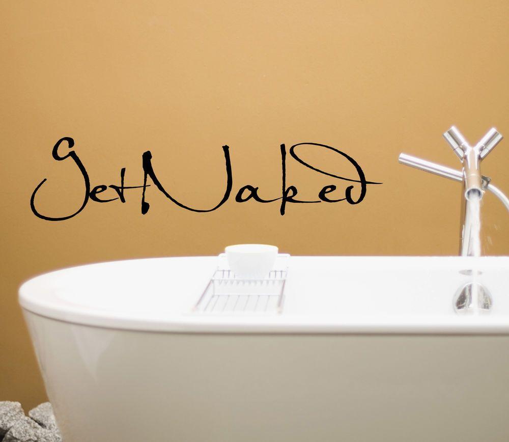 GET NAKED WALL DECAL LETTERING Vinyl Sticker For Bathroom Toilet Bath  Mirror #SMARTDESIGN #Modern