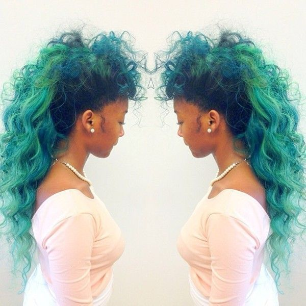 Weave Inspiration Curly Green Hair For Hair Tips And More