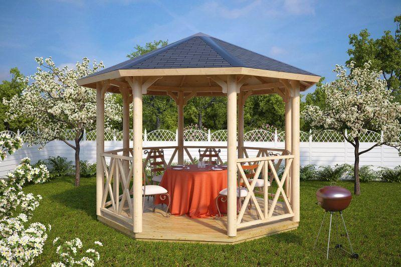 Pavillon selber bauen Anleitung+25 elegante Gestaltungsideen