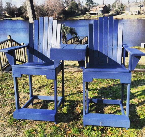 Superior Deck Chairs//Tall Chairs//Tall Adirondack By TimberlakeHomeDesign