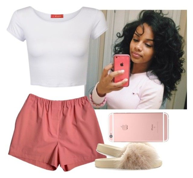 """""""Chill and simple , nun major 😌"""" by saucinonyou999 ❤ liked on Polyvore featuring Cape Robbin and Influence"""
