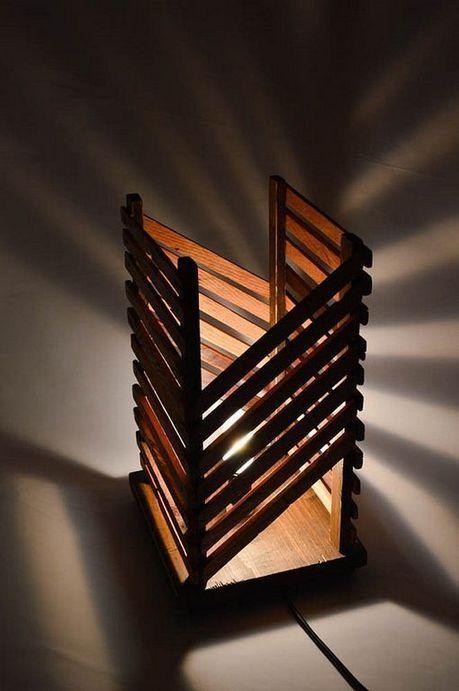 40 Beautiful Rustic Wooden Lamp Design