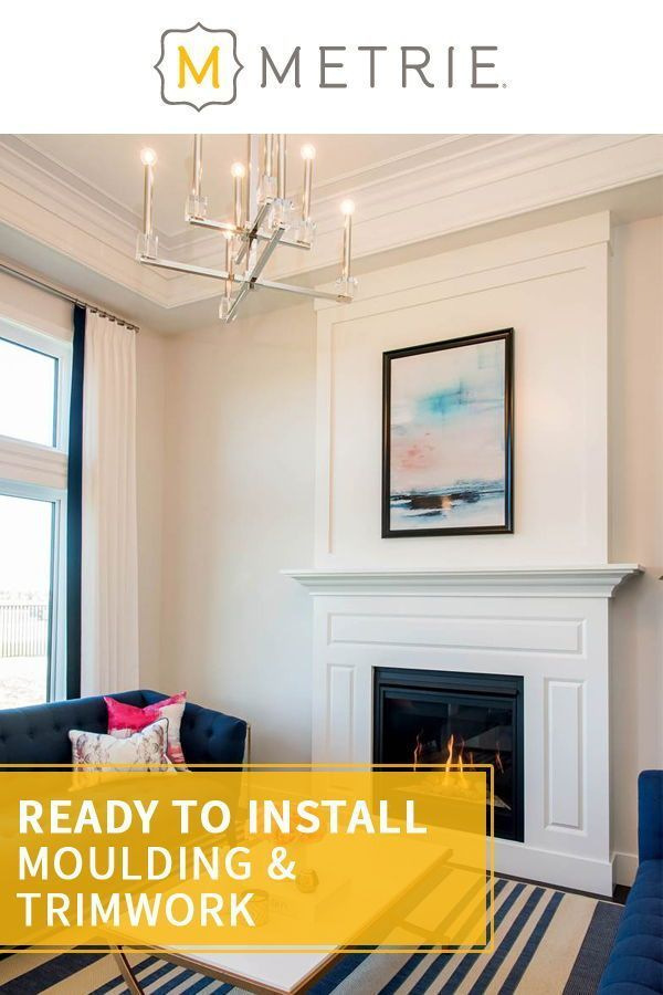 Every room tells a story if you set the stage. Metrie is North America's leading manufacturer and distributor of interior finishings. #moulding #trimwork #interiorfinishings #homedecorinspiration Photo Credit: Maison Design and Build