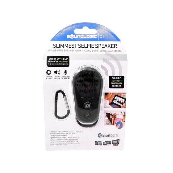 SoundLogic XT Bluetooth Slimmest Selfie Hands Free Speaker Mic Shutter//Release